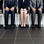 Nonprofit job candidates waiting for job in