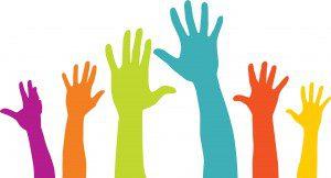 Volunteering Image of Hands Being Raised
