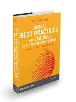 Book from BoardSource and John Wiley & Sons explains best practices for NGO's, and other nonprofit boards. Read more here!