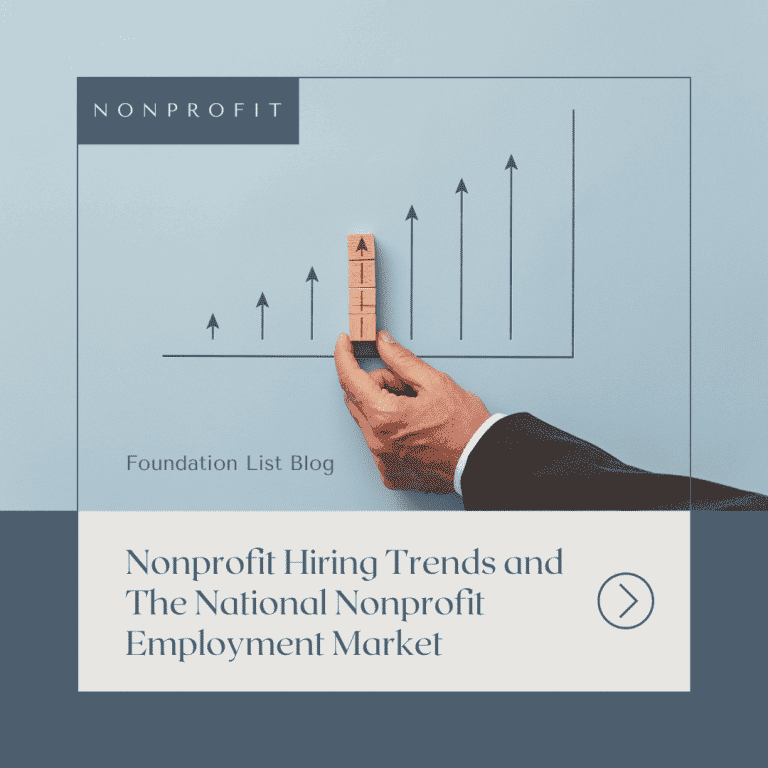 Image that says Nonprofit Hiring Trends and The National Nonprofit Employment Market